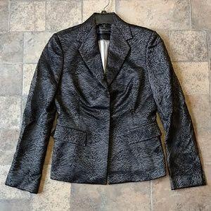 Richard Tyler Couture silk lace blazer jacket